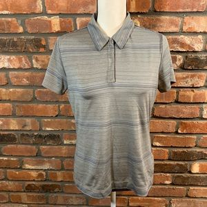 Nike Golf Fit Dry 1/4 Zip Novelty Stripe S/S Polo